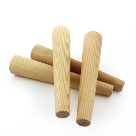 angled rounded wood legs