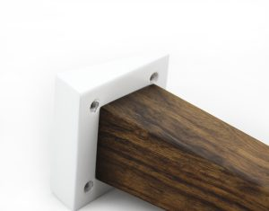 angled square wood legs